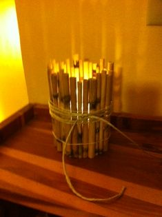 Bamboo Candle Holder (this could be much improved)
