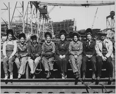 Line Up of Some of Women Welders Including The Women's Welding Champion of Ingalls [Shipbuilding Corp., Pascagoula, Ms]., 1943