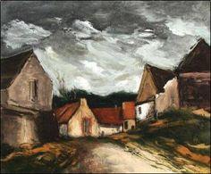 Maurice de Vlaminck - Village de la Sarthe, 1953