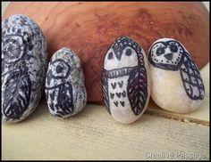 DIY Rock Owls