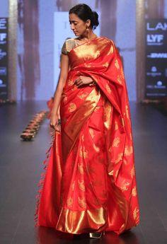 Buy Real Zari Kanjeevaram Silk Sarees Online Dark Pink