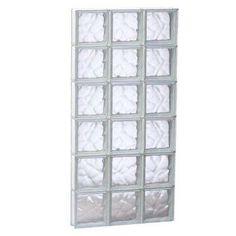 Wavy Glass Pattern Frameless Replacement Glass Block Window (Rough Opening: X Actual: X 4 Glass Block Windows, Glass Blocks, Brighten Room, Basement Windows, House Windows, Traditional Windows, Window Types, Privacy Glass, Glass Replacement