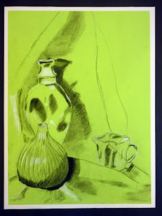 Charcoal still life drawings.The Calvert Canvas: Adventures in Middle School Art!: 7th Grade