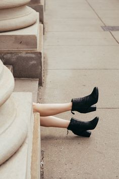 Minimal Fall essentials start with a strong black boot. @Nordstrom