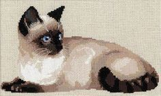 Cross Stitch Pattern - Siamese Cat and like OMG! get some yourself some pawtastic adorable cat apparel! Cat Cross Stitches, Cross Stitch Embroidery, Cat Allergies, Craft Online, Siamese Cats, Christmas Cats, Cross Stitch Patterns, Halloween, Cat Life