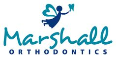 Love the tooth fairy in this dentist logo design. So charming for Marshall Orthodontics.