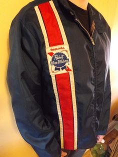 Vintage Pabst Blue Ribbon Delivery Boy Jacket..someone was selling this for $175.00! I have one exactly like this...priceless to me as it was my Grandpa's who worked at Pabst.  I wouldn't sell it for the world.
