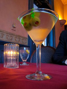 It's, like, my favorite drink...Dirty Martini (vodka).