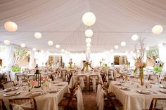 Love the simplicity of this wedding tent decor! Don't obstruct it with machinery...AirPac conceals it's equipment so you feel it, but don't see or hear it.  http://www.airpacinc.com/blog/bid/54190/4-Engaging-Reasons-to-Use-Air-Conditioning-for-the-Wedding-Tent
