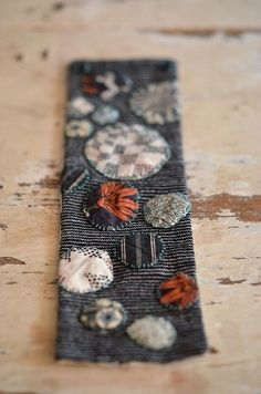 The Common Thread Textile Jewelry, Fabric Jewelry, Jewellery, Cross Stitch Embroidery, Hand Embroidery, Sashiko Embroidery, Fabric Bracelets, Textile Fiber Art, Textiles