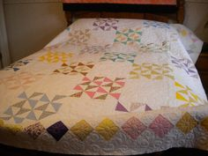 I called this Joane's Texas Pinwheel, copied from a friend's antique quilt.
