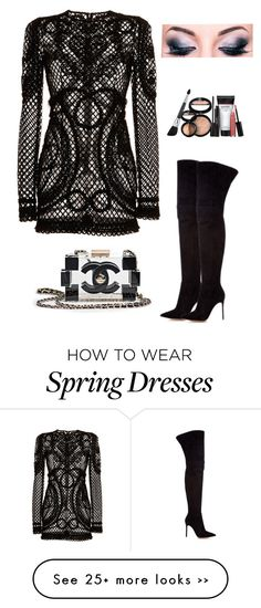 """Dolce & Gabbana"" by owl00 on Polyvore featuring mode, Dolce&Gabbana, Gianvito Rossi, Chanel et Laura Geller"