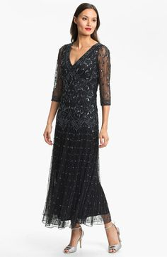 Pisarro Nights Beaded Mesh Dress (Regular & Petite) available at #Nordstrom