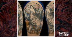 Wild half sleeve tattoo - wolf half sleeve tattoo on tattoochief. Wolf Tattoo Sleeve, Sleeve Tattoos, Girl Face, Half Sleeves, Flirting, Tatting, Templates, Signs, Life
