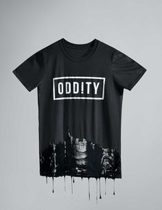 Oddity T-Shirt, dripping paint, product photography