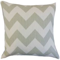 The Pillow Collection Maillol Zigzag Linen Throw Pillow Color: