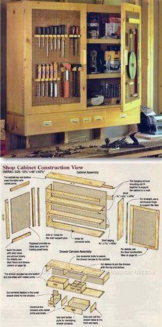 Workshop Storage Cupboard Plans - Workshop Options Plans Ideas and Tips | Woo. & Tool Storage Cabinet Plans - Workshop Solutions Projects Tips and ...