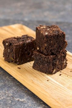 Vegan Chocolate Brownies. Vegan baking is no way boring! These are wonderfully chocolaty. Even the non-vegans should give it a try!   Bake it until the toothpick inserted comes out with some pieces, not completely clean. - http://giverecipe.com