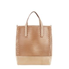 Loeffler Randall Shopper Tote in Natural perforated leather