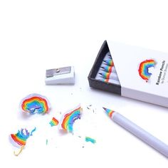 British designer Duncan Shotton created Rainbow Pencils as part of a Kickstarter campaign aiming to bring happiness to people's everyday lives.