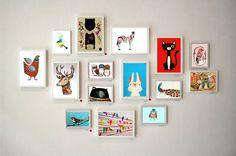 Cuadritos de madera con ilustraciones, $75 en https://ofeliafeliz.com.ar