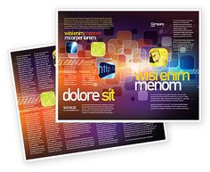 Double sided Color Collage Brochure Template http://www.poweredtemplate.com/brochure-templates/abstract-textures/08167/0/index.html