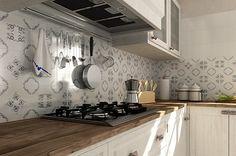 my future kitchen! Kitchen Tiles, Kitchen Dining, Kitchen Cabinets, White Bathroom, Double Vanity, Sweet Home, New Homes, Flooring, Interior Design