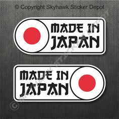 """You are Purchasing aSet of In Japan"""" Flag Vinyl Decal, Bumper Sticker. The colours you see here may be slightly different from the actual decal. This is due to the different monitor settings. Cool Car Stickers, Jdm Stickers, Bike Stickers, Bumper Stickers, Yamaha Dt, Yamaha Logo, Jdm Logo, Autos Nissan, Team Toyota"""