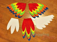 DIY Parrot Costume for Baby [with Free Templates]