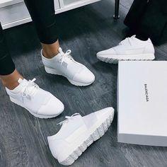 • White Balenciaga sneakers •