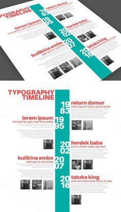 Timeline-Vorlage mit Fotos – Web Design And Marketing - Lebenslauf Web Design, Book Design, Layout Design, Timeline Design, Timeline Project, Photo Timeline, Timeline Infographic, Poster Layout, Information Design