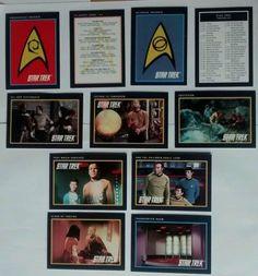 Lot 11 STAR TREK Trading Cards from Original TV Show, Impel 1991, Kirk, Spock