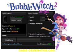 Bubble Witch 2 Saga Hack Tool  This tool is free and can be used to get limitless Gold and Hearts, and other power-ups! You won't ever have to purchase anything from the Bubble Witch 2 Saga.