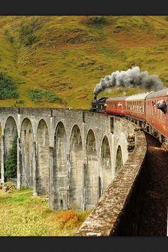 The Train To HOGWARTS - Glenfinnan Viaduct, well known for Harry Potter fans, Highlands, Scotland (by loose_grip) Highlands Scotland, Scotland Travel, Scotland Uk, Scottish Highlands, Scotland Castles, Scotland Trip, Edinburgh, Glasgow, By Train