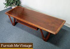 Vintage Lane Perception Coffee Table Mid Century Modern
