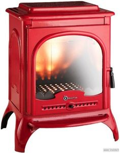 Invicta Seville wood burner woodburning stove 10kw Enamel finish red ivory fire | eBay