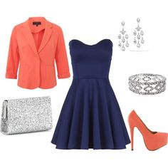 For color inspiration! Love navy blue and coral family colors together!