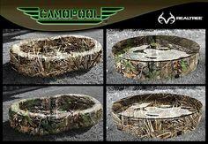 Camo pools Mossy Oak Baby, Baby Girl Camo, Country Girls, Country Pool, Hunting Camo, Realtree Camo, Camo Outfits, Camo Wedding, Fish Camp