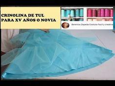 CRINOLINA DE TUL-DIY- parte 5 como armar para coser - YouTube Sewing Ruffles, Skirt Patterns Sewing, Techniques Couture, Sewing Techniques, Girls Dresses Sewing, Diy Tutu, Sewing Blouses, Stitching Dresses, Sewing Pants