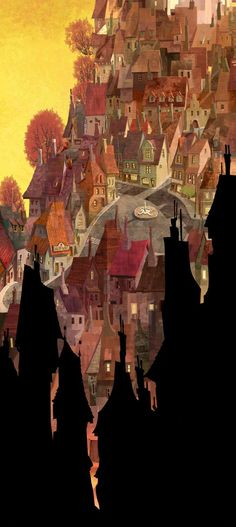 Living Lines Library: Hotel Transylvania (2012) - Visual Development: Environment