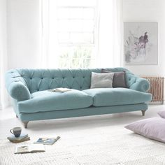 Medium Chesterfield Style Sofa | Bagsie Bagsie in thatch house fabric - Sofas | Loaf
