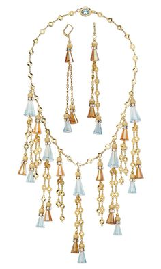 Jewelry Design - Bib-Style Necklace and Earring Set with Swarovski Crystal and Gold-Plated Brass Beads - Fire Mountain Gems and Beads