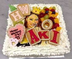 似顔絵とウエディング Birthday Cake, Desserts, Tailgate Desserts, Deserts, Birthday Cakes, Postres, Dessert, Cake Birthday, Plated Desserts