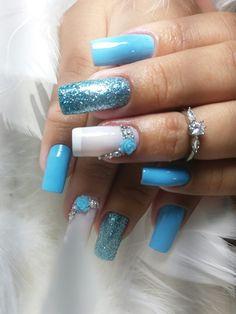 Nail Art, Nails, Beauty, Blue Nails, Nail Jewels, Nail Ideas, Gorgeous Nails, Stones, Gel Nail Art