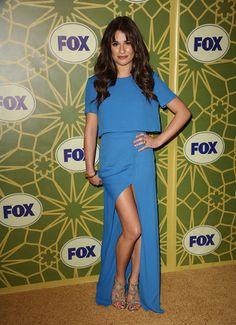 Lea Michele at the 2012 Winter TCA bash.