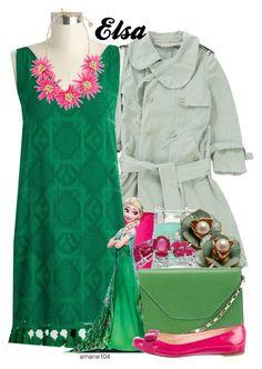 Elsa by amarie104 on Polyvore featuring polyvore fashion style Marni Disney Salvatore Ferragamo Valextra Malaika Topshop clothing