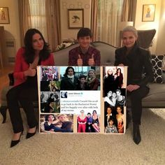 Awesome Regina Henry Emma (Lana Jared Jen) #Once #BTS in Regina's awesome mansion in Storybrooke Maine the awesome Once #Dreamcatcher #Steveston Village #Richmond Vancouver BC Tuesday 8-25-15