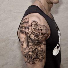 Best Sleeve Tattoos, Tattoo Sleeve Designs, Tattoo Designs For Women, Leg Tattoos, Body Art Tattoos, Gd Tattoo, Unalome Tattoo, Samurai Tattoo Sleeve, Gladiator Tattoo