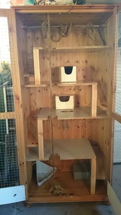 A wooden rat cage?  Seriously?? Large Custom Rat Cage in Pet Supplies, Small Animal Supplies, Cages & Enclosures | eBay