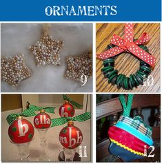 28 Homemade Christmas Ornaments to Make. I will be so glad I pinned this when I have my own place one day.